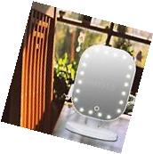 20 LED Light Cosmetic Square Vanity Desk Stand Makeup Mirror