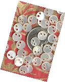 20 VINTAGE micro MOP MOTHER of PEARL BEADS Doll BUTTONS 1940