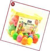200 Pit Balls Plastic Ball for Ball Tent Pit BPA Free Crush