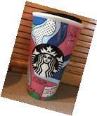 NEW! 2016 Starbucks OREGON Travel Tumbler Ceramic Cup