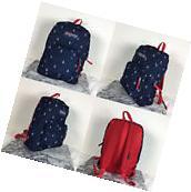 2016 Jansport Superbreak Backpack Red Tape/Land Ahoy 100%