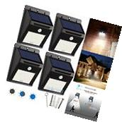 6X 20LED Solar Power Sensor Wall Light Security Motion