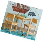 Kidkraft 21221 Kids Aspen Wood Activity Table & 2 Chairs Set