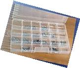 24 Compartment Clear Storage Container Adjustable Dividers