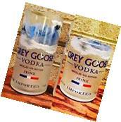 24 Grey Goose Vodka 1 Liter Bottle Party Pack - 12 Rocks, 12 Tumbler Glasses