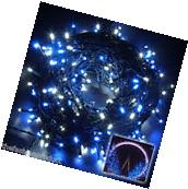 250Led 164Ft White Blue String Fairy Lights For Christmas Tree Party Wedding US