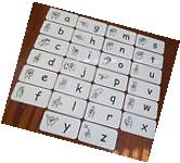 26 Full Size American Sign Language Alphabet Cards.  Learn