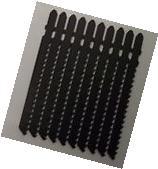 """BOSCH 2609633336 T111D Jigsaw Blades 4"""" x 7TPI 10pcs"""