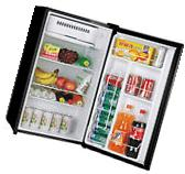 3.2 Black Compact Refrigerator Small Freezer Dorm Fridge