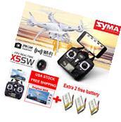 3 Batteries SYMA X5SW WiFi FPV 6-Axis GYRO RC Quadcopter