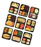 Bentibo 20 Piece 3 Compartment Meal Prep Food Storage