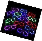 3 GLOW IN THE DARK GLASSES Stick Bright Neon Party Club