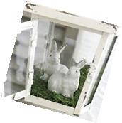"NEW!~RAZ Imports~3"" Gray Pottery Spring Garden Bunny Rabbit"