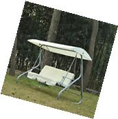 Outsunny 3 Person Outdoor Patio Swing Chair with Canopy