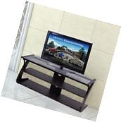 3-Tier Tempered Glass Top TV Stand Entertainment Center