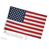 New 3'x5' US FLAG POLE KIT Aluminum Flagpole USA
