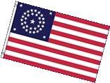 34 Stars American Flag Historical United States Banner USA