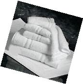 24  WHITE 100% COTTON HOTEL HAND TOWELS 16X27