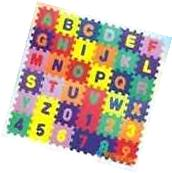36 BLOCKS Puzzle Mat Learning ABC Alphabet Study Kids