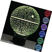 3D LED Desk Table Lamp Star Wars Death Star Bulb Illusion