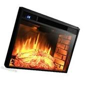 1400W 3D Flame Log Woods Insert Heater Freestanding Electric