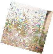 Rabbitgoo 3d No Glue Static Decorative Privacy Window Films