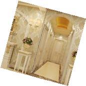 3D 10M Grandeco Kensington Damask Cream Luxury Glitter