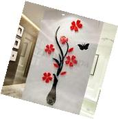 3D Mirror Flower Decal Wall Sticker DIY Removable Art Mural