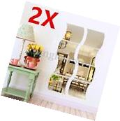 3D Mirror Wall Stickers Vinyl Removable Home View Window