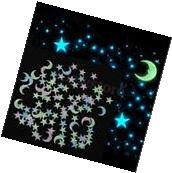 3D Star Moon Glow In The Dark Wall Sticker Home Decor Room