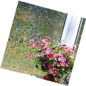 3D Static Cling Home door Window Film Stained Glass Paper