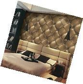 3D Vintage Gold Leather textured wallpaper Vinyl Mural