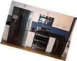 Samsung 4 Black Stainless Kitchen Appliance Package Range/