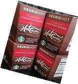 4 STARBUCKS CHRISTMAS BLEND GROUND COFFEE/ CLASSIC HOT COCOA