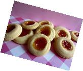 4 Dozen!  Homemade Butter cookies with Jam Filling +