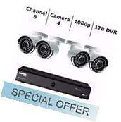 Lorex 8 Channel & 4 Camera 1080p FHD Security Surveillance
