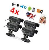 4×HD Home Security IP Camera Wifi Wireless System Internet