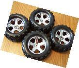 4 Traxxas Stampede 2wd Front Rear Talon Tires & 2.8 Chrome