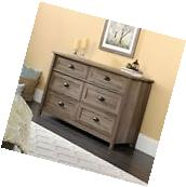 Sauder 419320 County Line 6 Drawer Dresser in Salt Oak