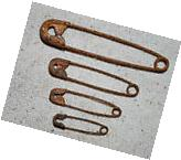 48 assorted Primitive RUSTY Safety Pins - These are RUSTY -
