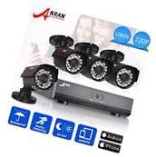 ANRAN 4CH 720P AHD DVR 1800TVL HDMI Outdoor 24IR P2P CCTV