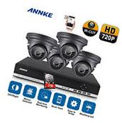 ANNKE 4CH 720P AHD DVR 1800TVL Outdoor IR-CUT Security CCTV