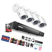 ANNKE 4CH 1080P HD Video DVR 2000TVL Outdoor Home