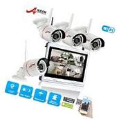 "ANRAN 4CH 720P HD Wireless 12""LCD-M NVR Outdoor Home CCTV"