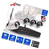 ANRAN 4CH 720P Wireless NVR CCTV System WIFI IP Security