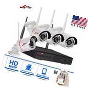 4CH Wireless NVR 1080P HD IP Network IR Outdoor CCTV Home