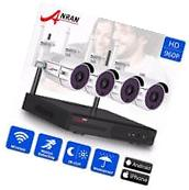 ANRAN 4CH 960p HD Wireless Security Camera Outdoor Video