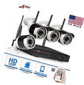 4CH 720P Wireless WIFI CCTV Camera Security System 1080P NVR