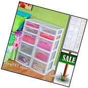 5 Drawer Tower Plastic Organizer Storage Office Cabinet Box