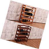 5-Tier Wooden Shoe Rack Shelf Storage Organizer Entryway 2